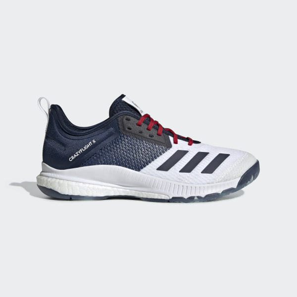 adidas Crazyflight X 3 USA Volleyball Shoes - White | adidas US