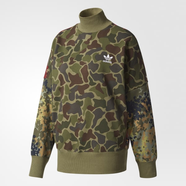 adidas Women's Pharrell Williams Hu Hiking Camo Sweater Multicolor | adidas Canada