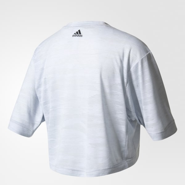 adidas Aeroknit Boxy Crop Top White | adidas US