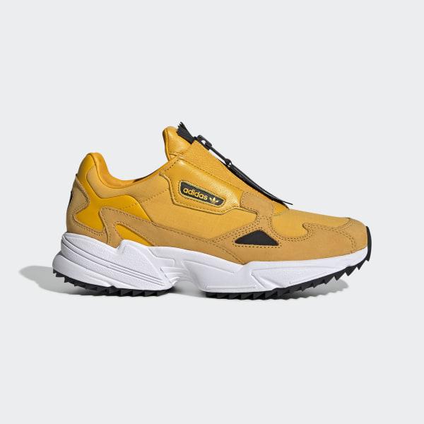 adidas Falcon Zip Shoes - Yellow | adidas Turkey