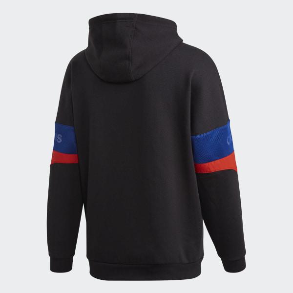 adidas TRF Hoodie (red white) | 43einhalb Sneaker Store