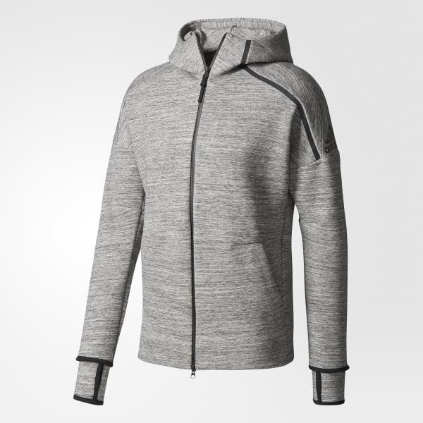 adidas Z.N.E. Storm Heathered Hoodie Grey | adidas US