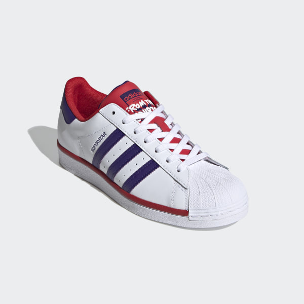 Superstar Schoenen Cloud White / Purple / Scarlet FV4189