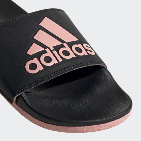 adidas Adilette Cloudfoam Plus Logo sandaler Svart | adidas Norway