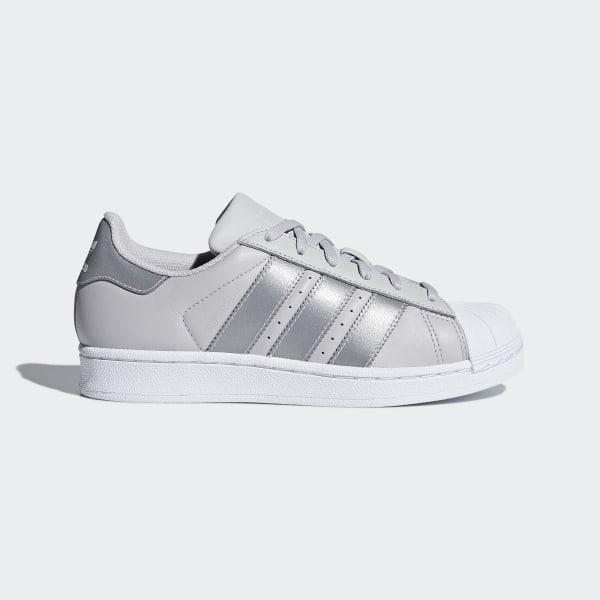 adidas superstar j blancas y gris