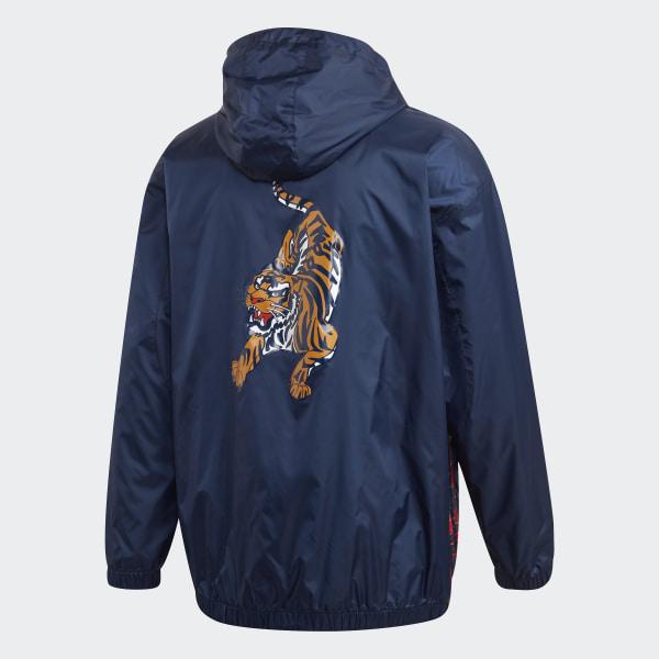 adidas hoodie jacket blue