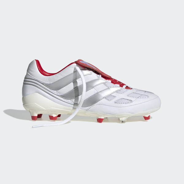 retrò l'ultimo a piedi scatti di adidas Predator Precision Firm Ground David Beckham Boots - White ...