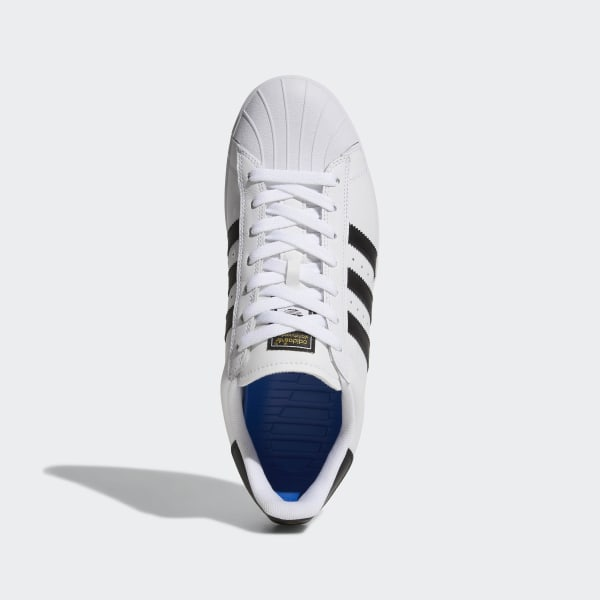 adidas Superstar Vulc ADV Shoes Black Suede, White, White