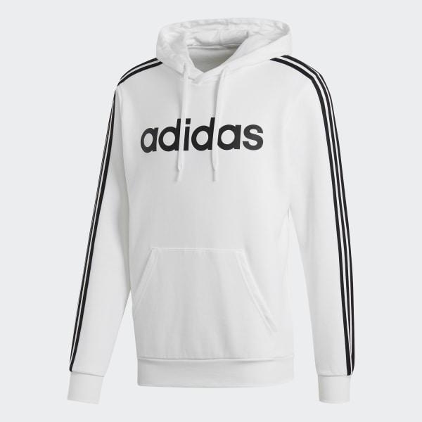 adidas Essentials 3 Stripes Pullover Hoodie White | adidas US