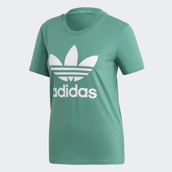 adidas Trefoil T Shirt Grün | adidas Austria