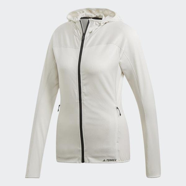 Veste à capuche molletonnée Trace Rocker Blanc adidas | adidas France