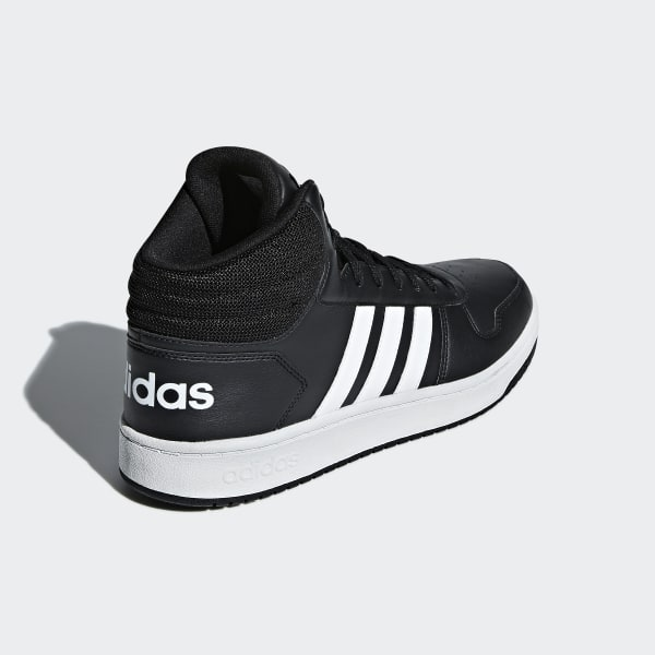 adidas Hoops 2.0 Mid Shoes - Black | adidas Belgium