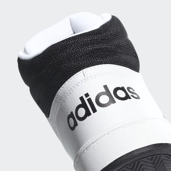 adidas hoops 2.0 mid bianche