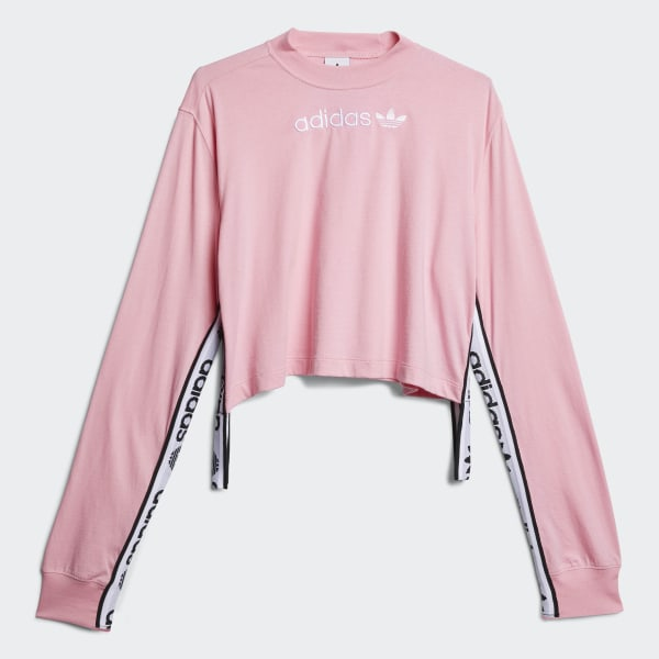 adidas Tape Tee Pink   adidas US