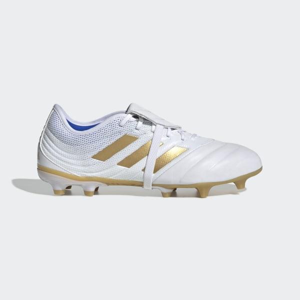 adidas la scarpe da ginnastica bianca and gold