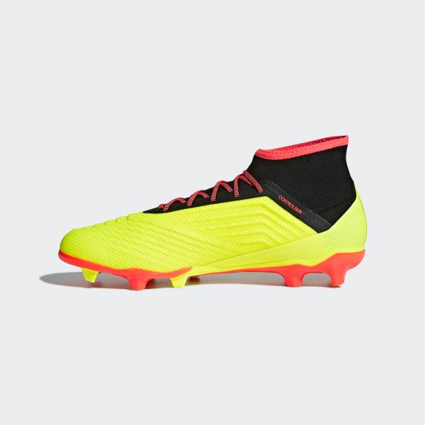 ADIDAS scarpe calcio PREDATOR 18.2 FG DB1997 color GIALLO
