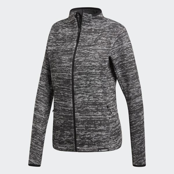 adidas Knit Fleece Jacket Grey | adidas Belgium
