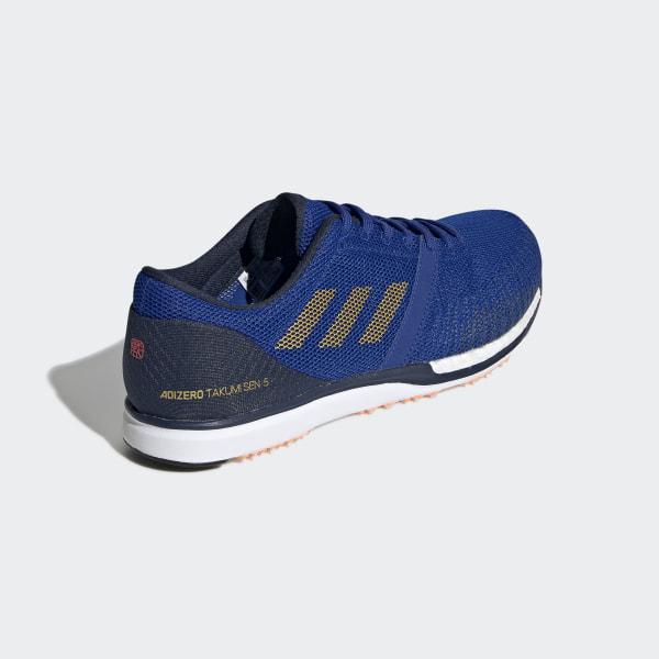 Adidas Men's adizero Takumi Sen 5 Running Shoes Athletic Training Blue G28890