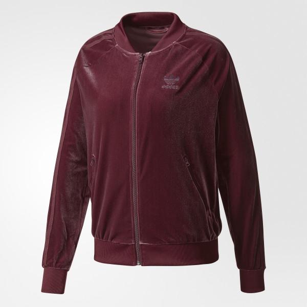 fashion half price united kingdom adidas Femmes Velvet Vibes SST Track Jacket - Red | adidas Canada