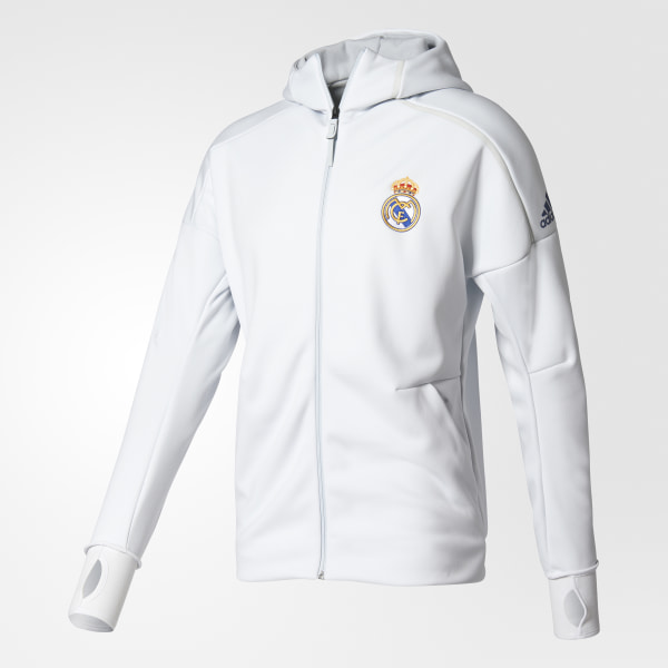 sudadera adidas 2017 real madrid blanca