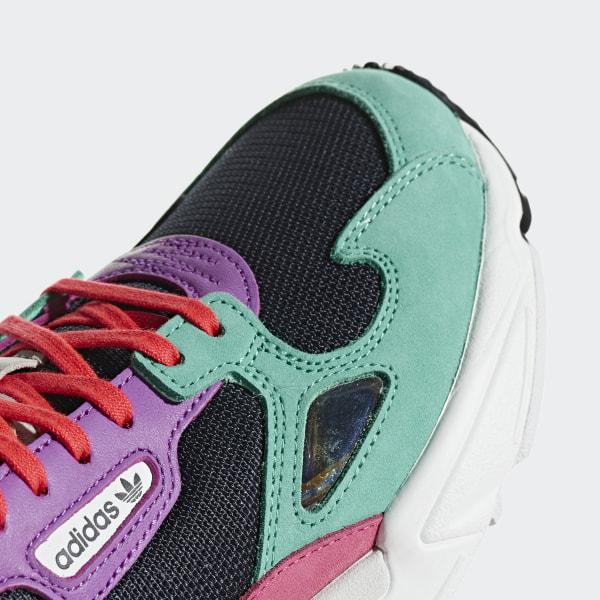 Adidas CG6211 Falcon W Running Zapatos Zapatillas Verde Azul