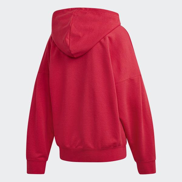 adidas Originals Women's Trefoil Hoodie Energy Pink