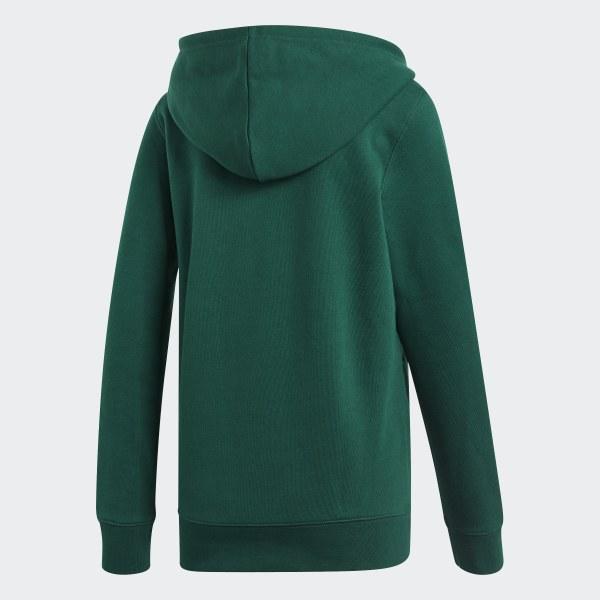 Dark green Adidas original trefoil hoodie, Women's Fashion