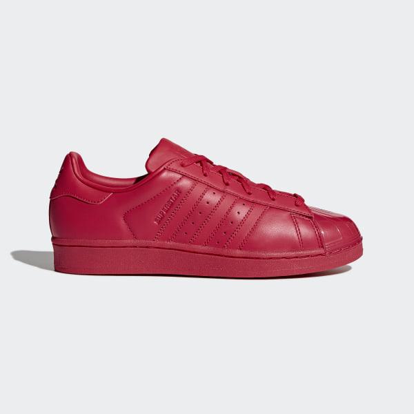 adidas superstar raya roja