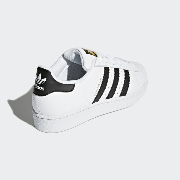 adidas superstar j sneaker c77154 white/core black/white