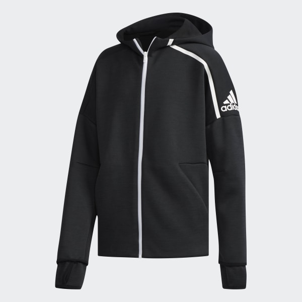 Hombre Chaqueta con capucha Z.N.E. Fast Release Negro | Pantalones de deporte & chándal Adidas Originals