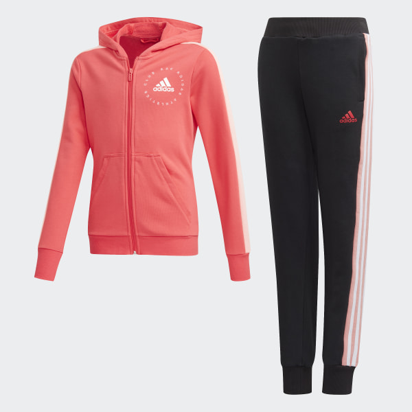 adidas Hooded Trainingsanzug Rosa | adidas Deutschland