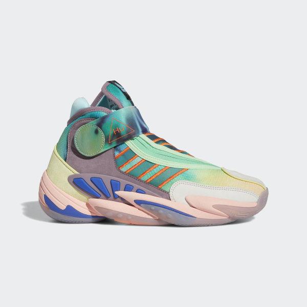 Pharrell Williams 0 tot 60 schoenen gele tint / legacy paars / helder bruin FV7333