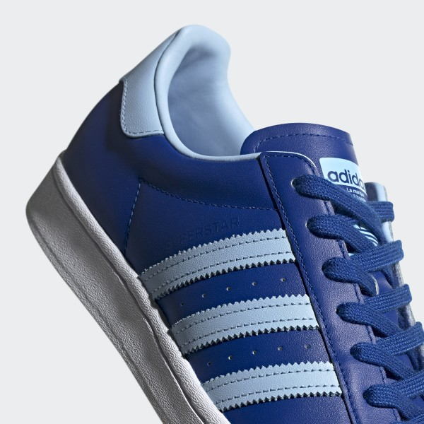 adidas superstar color clear sky