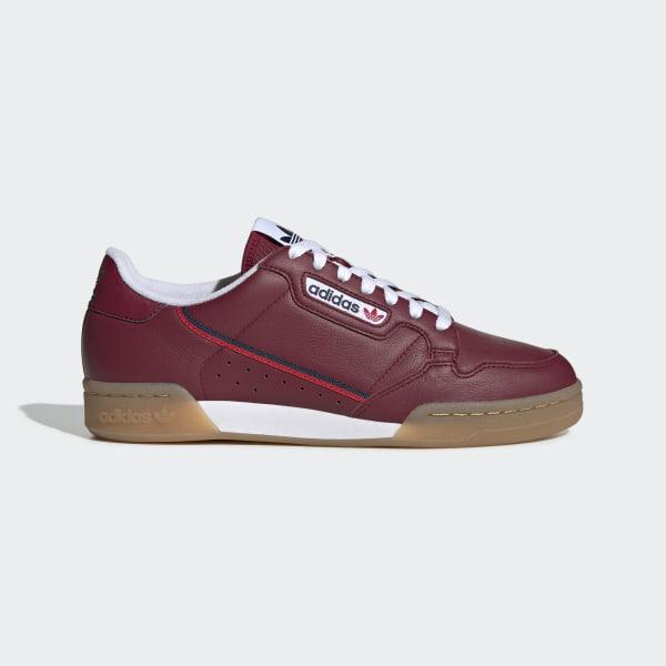 adidas Continental 80 Shoes Burgundy | adidas US