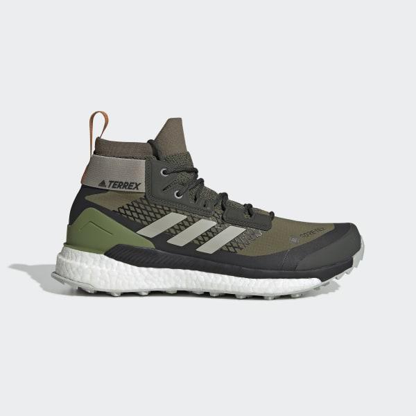 adidas Terrex Free Hiker GTX Hiking Shoes Green | adidas US