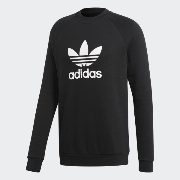 adidas Trefoil Warm Up Crew Sweatshirt Black | adidas US