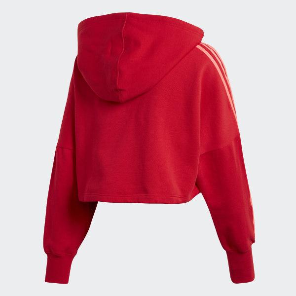 adidas Originals Hoodie Cropped Scarlet