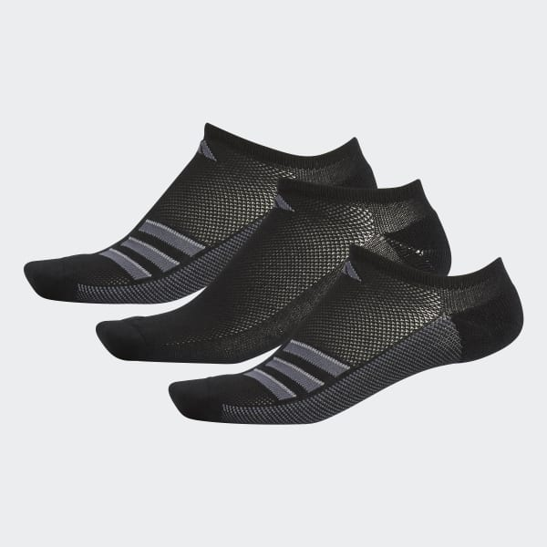 Climacool Superlite 3-Stripes No-Show Socks Black CJ0585