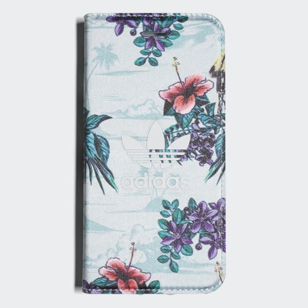 Floral Booklet Case iPhone 8 Blue CJ8326