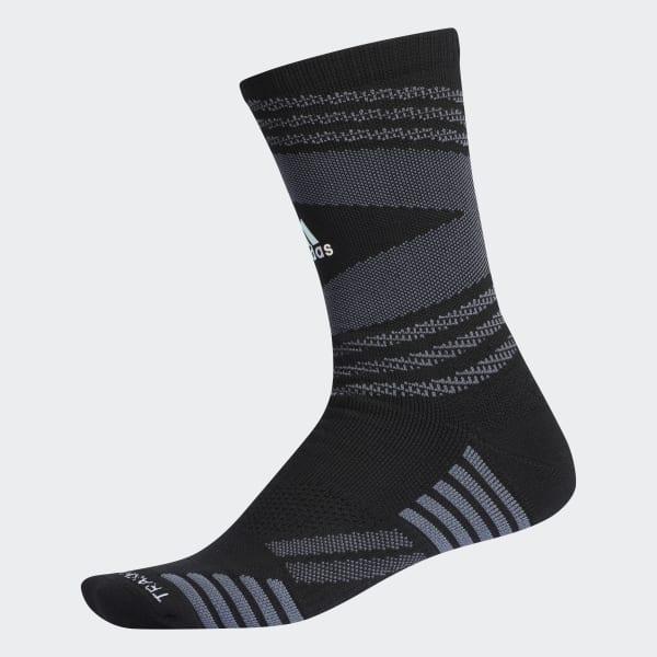 Emoji Speed Mesh Team Crew Socks Black CK2308
