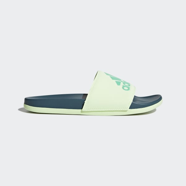 Adilette Cloudfoam Plus Logo Slides Green CG3429
