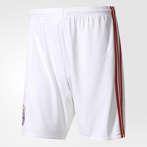 FC Bayern München Home Replica Shorts White AI0058
