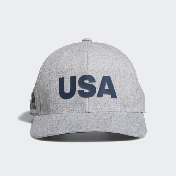 Heathered USA Hat Grey DN4252