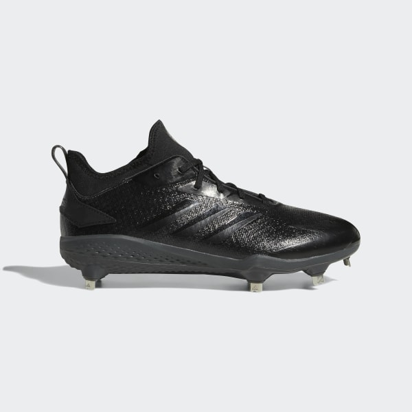 huge discount ad151 46af2 Adizero Afterburner V Dipped Cleats Carbon   Core Black   Grey AQ0085