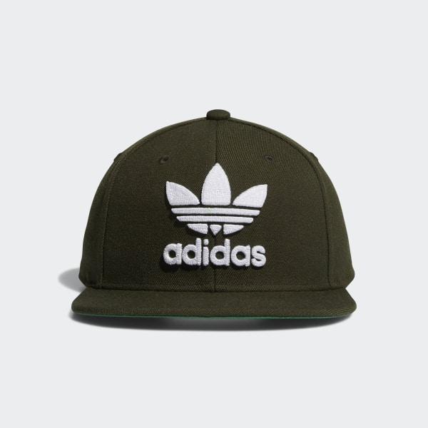 a2585cac0fd56 Trefoil Chain Snapback Hat Medium Green CK4981