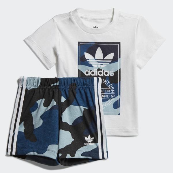 058cf22dd Conjunto camiseta y pantalón corto Camouflage White   Multicolor DW3843