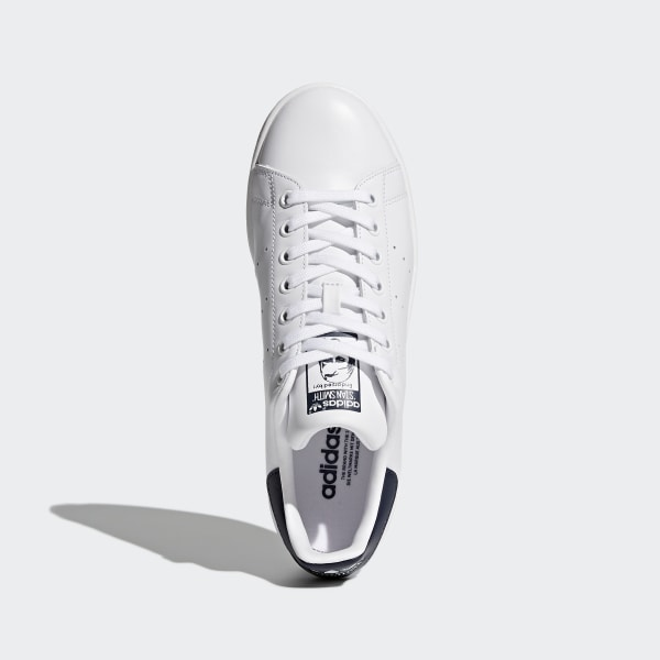 524270187 Stan Smith Shoes Core White   Core White   Dark Blue M20325
