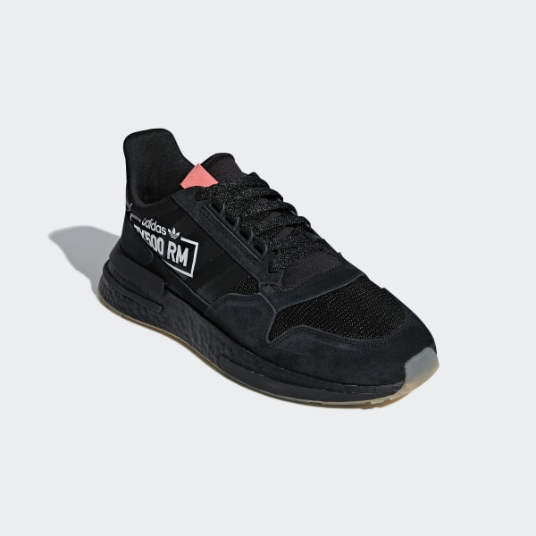 New Adidas Originals ZX 500 RM Running Shoes Boost Casual Street Black Red Gum