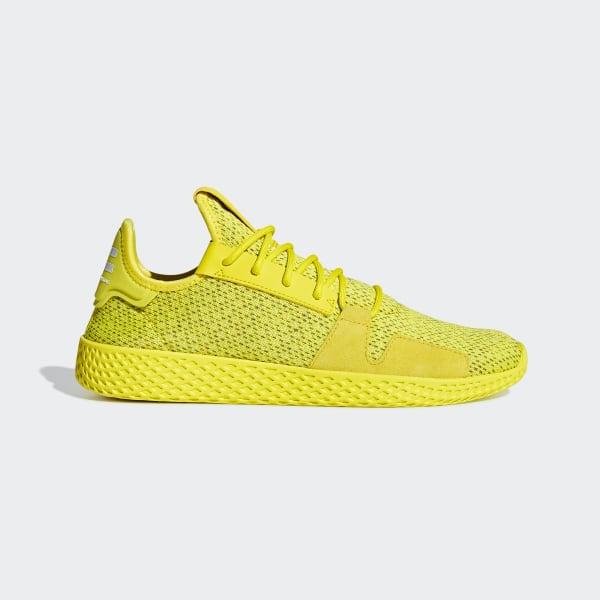 41d10e700372a6 Chaussure Pharrell Williams Tennis Hu V2 Shock Yellow / Shock Yellow / Ftwr  White DB3329