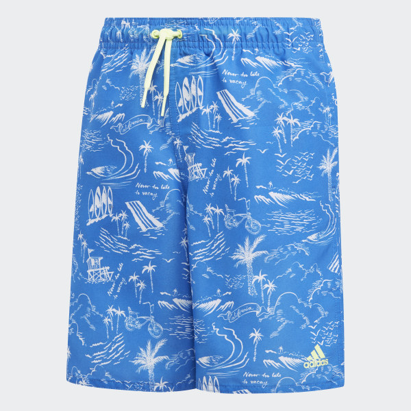 blue adidas swim shorts